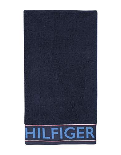 Tommy Hilfiger - Toalla de Rizo, 50 x 100 cm, 100% Rizo de Puro algodón, Color Azul Marino