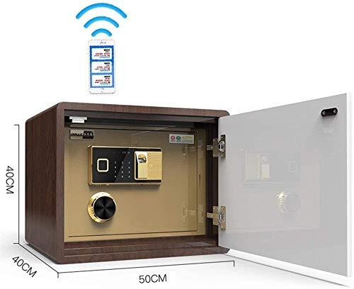 ZHUYUE-Büro Sicher 40cm hoch Unsichtbare Sicher Haushalt Safe Aller Stahl Anti-Diebstahl-Tresor WiFi Remote-Encryption-Bett (Farbe: weiß, Größe: 40x40x50cm) (Color : Brown, Size : 40x40x50cm)