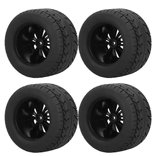 Qinlorgo Neumáticos RC de Repuesto, neumáticos de Rueda RC Resistentes al Desgaste Negros de excelente Agarre práctico, Aptos para 1/10 RC Car Fit HPI