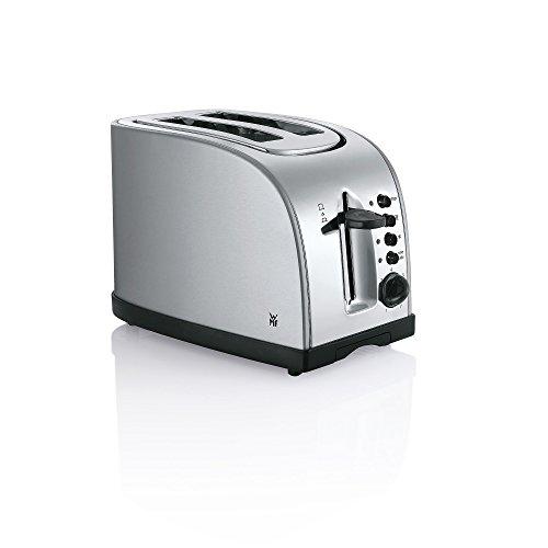 WMF Stelio Toaster Edelstahl, Doppelschlitz Toaster mit Brötchenaufsatz, 2 Scheiben, Bagel-Funktion, 7 Bräunungsstufen, 980 W, edelstahl matt