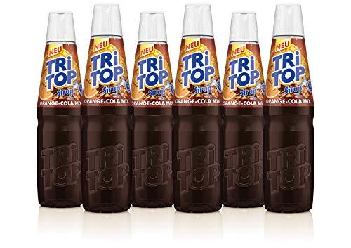 TRI TOP Orange-Cola-Mix | kalorienarmer Sirup für Erfrischungsgetränk, Cocktails oder Süßspeisen | wenig Zucker (6 x 600ml)