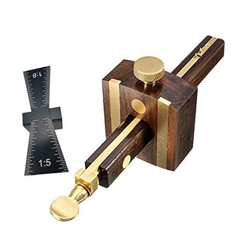 Fenteer Streichmaß Falzmaß Präzisionswerkzeug zum parallelen Anreißen + Schwalbenschwanz Schablone Holzbearbeitung Werkzeug