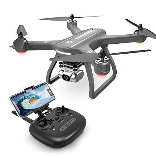 Holy Stone ドローン カメラ付き GPS搭載 4K広角HDカメラ ブラシレスモーター付き フライト時間22分 自動航行 オートリターンモード フォローミーモード モード1/2自由転換 高度維持 2.4GHz 国内認証済み HS700D (グレー)