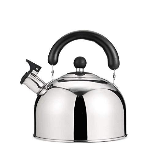 3,5 litres Bouilloire /à th/é sifflante sur le dessus de la cuisini/ère Th/éi/ère en acier inoxydable chirurgical avec poign/ée en grain de bois anti-br/ûlure convient /à tous les types de po/êles