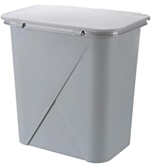 C-J-Xin Rectangular Trash Can, Plastic with Cover Trash Can Bathroom Restaurant Rooms Office Wall-Mounted Trash Can High C...