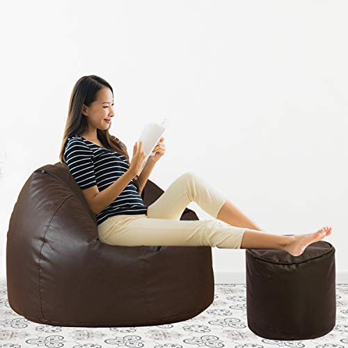 Aart Store Classic XXXL Filled Bean Bag with Beans - Brown