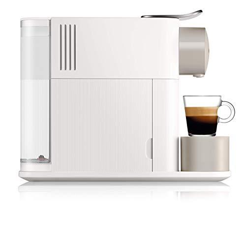 De'Longhi EN500W Machine à Café à Dosette Nespresso Lattissima One, Blanc soyeux, 1 Liter