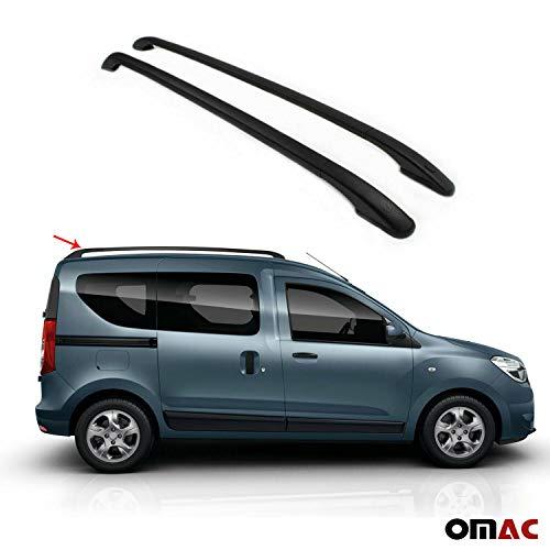 OMAC GmbH - Barras portaequipajes de aluminio para Dokker 2012-2020, color negro