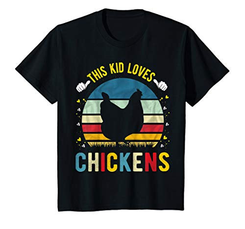 Kids This Kid Loves Chickens Boys and Girls Chicken Gift T-Shirt