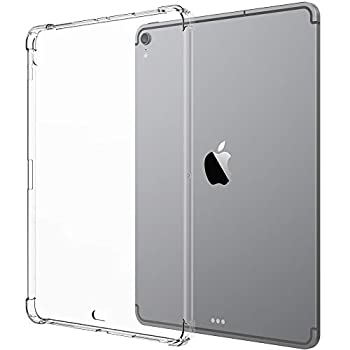 Luvvitt iPad Pro 12.9 Case Crystal View Flexible TPU Slim and Light Back Cover with Shockproof Cushion Corners for Apple iPad Pro 12.9 in 2018 - Clear  Wireless Pencil Charging - Newest Model