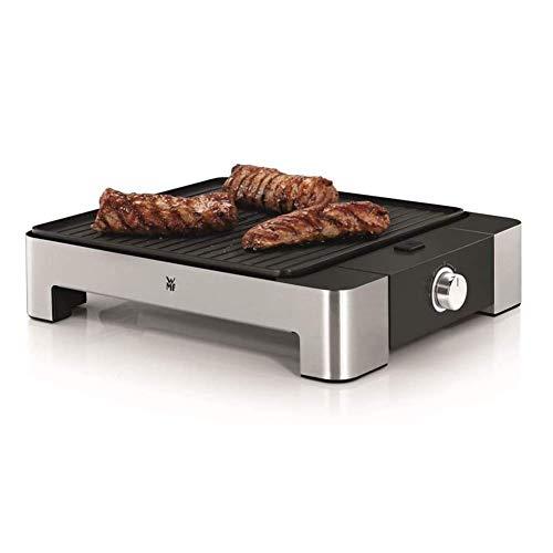 Elektrischer Elektrogrill Tischgrill Elektrogrill max 1680 Watt für Balkon Garten Indoor Antihaftbeschichtung Temperaturregelung mit Abnehmbare Platten Reinigungsschaber 47 * 28.4 * 7.7CM