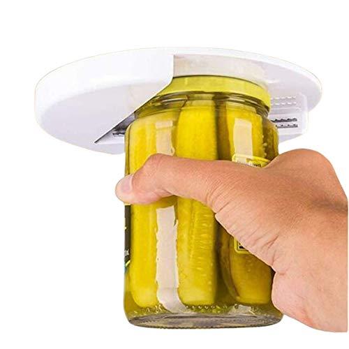 Pineocus Home Arthritis Glass Jar Opener Under Cabinet Jar Opener - Undermount Lid Gripper Tool Easily Grip and Unscrew Multi-Sized Jars for Arthritis, Weak Hands, and Seniors 3Pcs