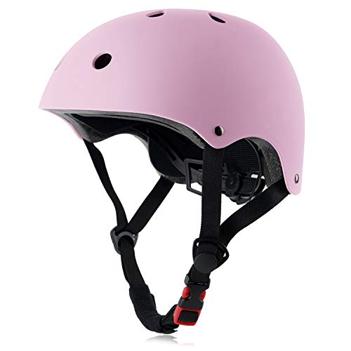 Adult Skateboard Bike Helmet for Women and Men, Lightweight Adjustable, Multi-Sport for Bicycle Cycling Skate Scooter