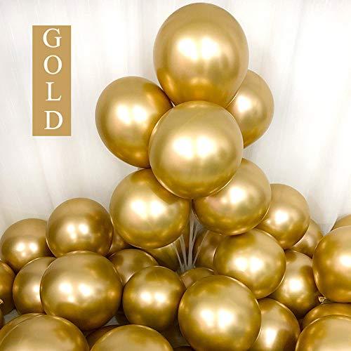 Metallic Gold Balloons 12 inch 50pcs Party Balloons Birthday Helium Balloon Chrome Latex Balloons