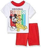Disney Mickey Mouse - Juego de Pijama de 2 Piezas para niños - Rojo - 4 años