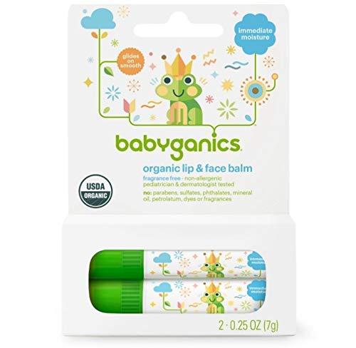 Babyganics Fragrance-Free Lip & Face Balm - 0.5oz / 7g (2 pk)