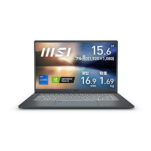 【第11世代CPU・軽量】MSIビジネス・クリエイターノートPC Prestige-15 1.65Kg Win10Pro i7/GTX1650TiMax-Q/16GB/1TB/Prestige-15-A11SCS-006JP