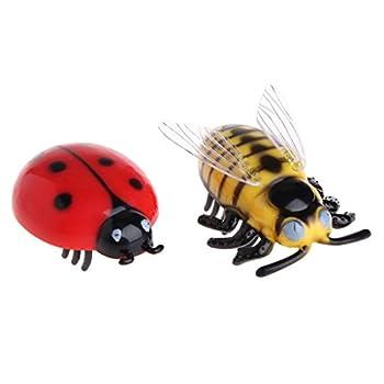 Freshsell Jouets pour Chat Teaser Interactive pour Animal Domestique Beetle Cigale Auto électrique Marche Insectes Mini