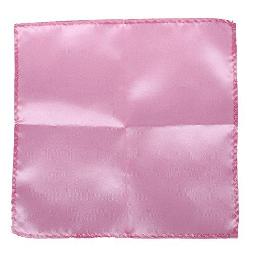 SODIAL(R) Hommes De poche Mouchoir Simple Couleur Mariage Parti Carre Mouchoir de poche (Rose)
