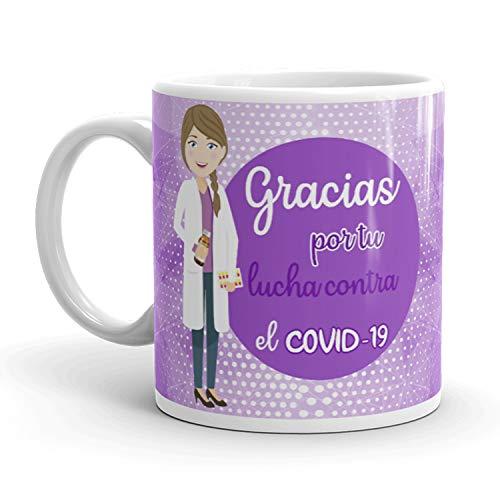 Kembilove. Tazas Desayuno Originales para Farmacéutica – Taza de café de Agradecimiento para Farmacéuticas Que lucharon en Ayudar a la Gente – Regalos Originales para Farmacéutica