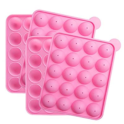 Tosnail 2 Pack of 20-Cavity Silicone Cake Pop Mold - Great for Hard Candy, Lollipop and Party Cupcake from