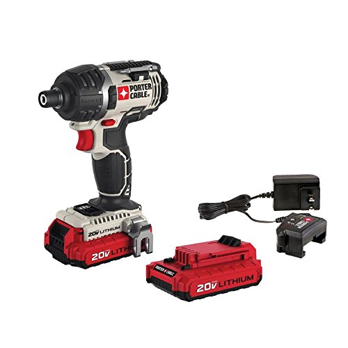 PORTER-CABLE 20V MAX Cordless Impact Driver Kit, 1/4-Inch, Tool Only (PCCK640LB)