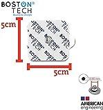 Set de 20 electrodos universales de 5x5 cm tipo botón Electrodos para TENS y EMS, Reutilizables Supersoft para electroestimulador Beurer, Vitalcontrol, Sanitas. Parches. Boston Tech