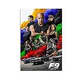 YHYHYH Fast And Furious 9 Poster, dekoratives Gemälde,