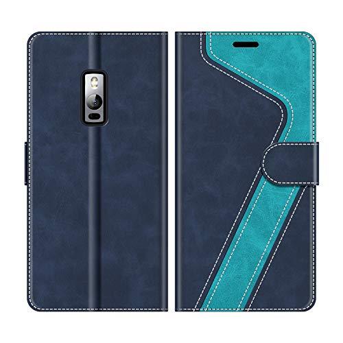 MOBESV Handyhülle für Oneplus 2 Hülle Leder, Oneplus 2 Klapphülle Handytasche Case für Oneplus 2 Handy Hüllen, Modisch Blau