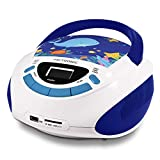 Metronic 477170 Radio Lecteur CD enfant Océan avec Port USB/SD/AUX-IN - Bleu et...