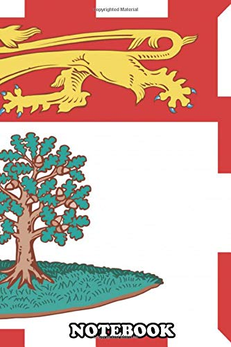 Notebook: Vector Flag Of Prince Edward Island Province Of Canada , Journal for Writing, College Ruled Size 6' x 9', 110 Pages