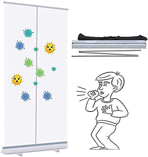 TOPNIU Protector de estornudos independiente para contador de estornudos de montaje rápido y fácil para restaurantes, salones de peluquería, estudios de fitness (tamaño: 60 x 160 cm)