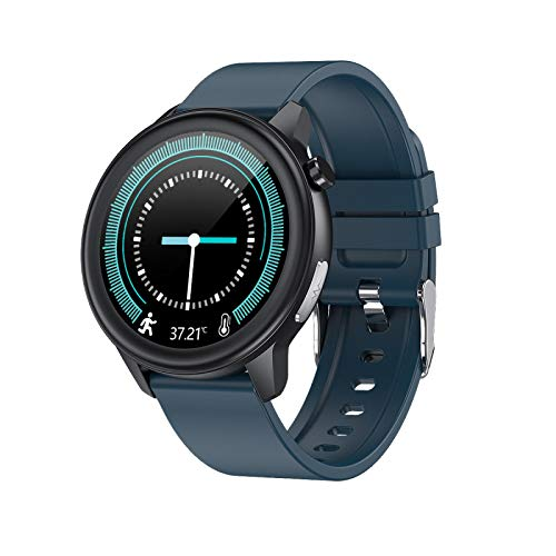 ZHEBEI E80 reloj inteligente infrarrojo detección de temperatura corporal ECG presión arterial modo de ejercicio de detección de sueño