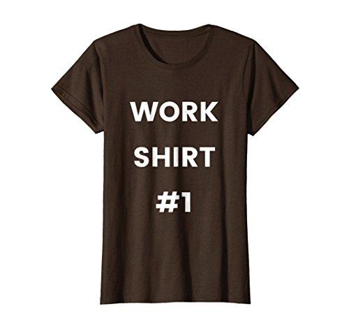 Womens Work Shirt #1 - Cheap Work Clothes Uniform Safety Industrial XL Brown