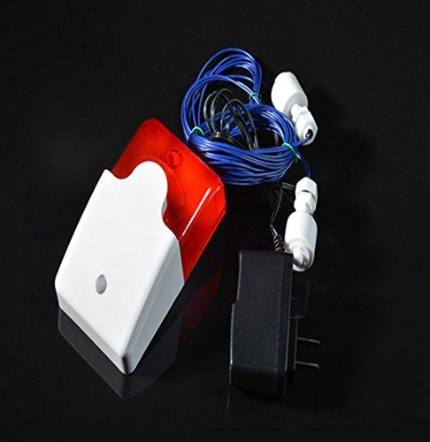 Lethend Alarm für hohen oder niedrigen Wassermelder, voller Wassermangel / Wasserleck Sound & Licht Alarmgerät für Wassertank / Wasserturm / Pool, 110 dB (zwei Sonden)