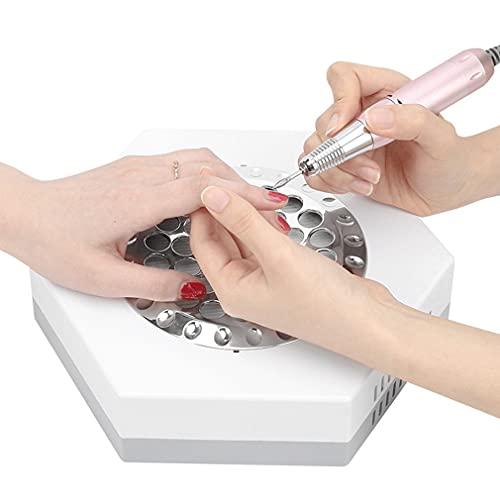 XXJIC Máquina de vacío de colector de Polvo de uñas de 80W para uñas de acrílico, Potente coleccionista de Polvo para Clavos Art Salon Professional Nail Aspirum Strong String para el salón de Arte