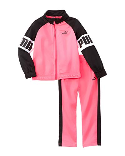 PUMA Toddler Girls' Tricot Track Set, Knockout Pink, 4T