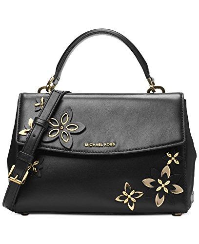 MICHAEL Michael Kors Ava Small Top Handle Satchel Black, Flowers