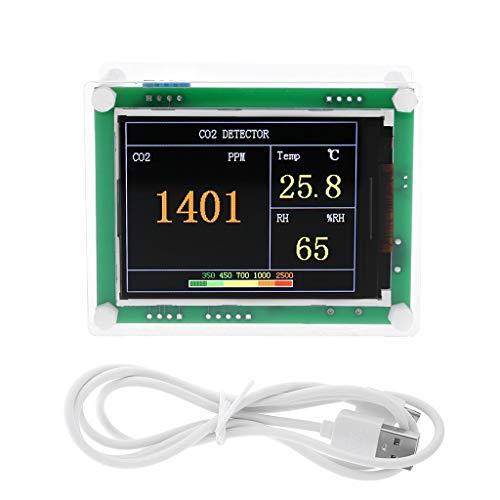no-branded Digitale CO2 Meter Kohlendioxid-Detektor-Air Tester Monitor-Auto-Start Indoor Outdoor CO2-Temperatur-Feuchtigkeits Gasanalysatorsystem XXYHYQHJD