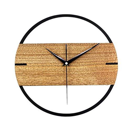 Pamura - HOLZCRON - Quartz Wanduhr - Analoge Wanduhr - Wanduhr Holz - Deko Wohnzimmer - Deko Schlafzimmer - Wanduhr Modern - Uhr Wand