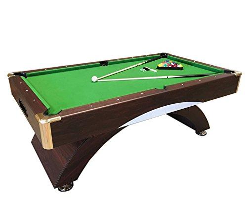 GRAFICA MA.RO SRL Mesa de Billar Juegos de Billar Pool 7 ft Annibale Verde Carambola Medición de 188 x 94 cm Nuevo Embalado Disponible