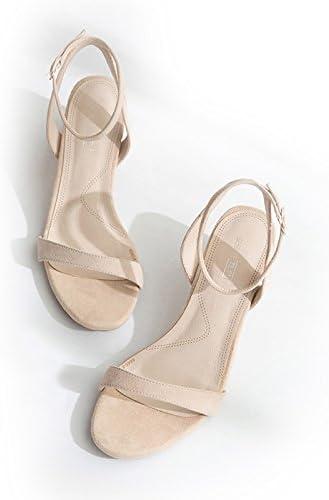 RUGAI-UE Chaussures en Cuir Femmes Sandale d'été,Talons Jaune 39