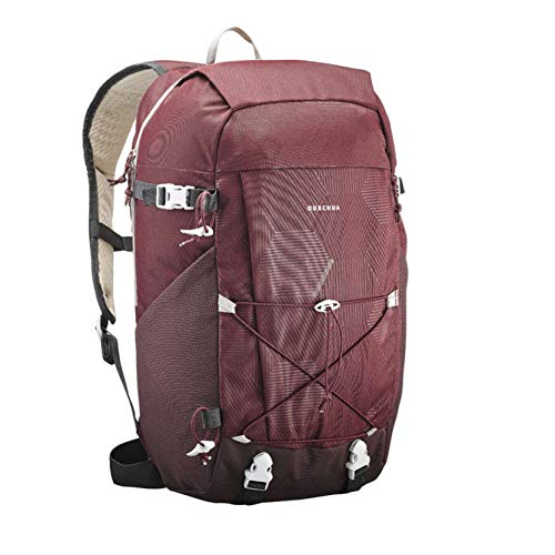 Quechua NH100 Natural Hiking Rucksack 30 Litres Black (Bordeaux)