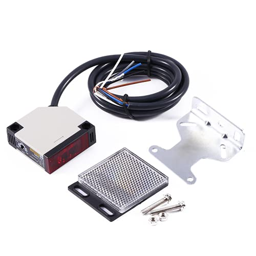 Interruptor fotoeléctrico, montaje en pared, sensor de reflejo de espejo de respuesta rápida, interruptor de alta precisión para interruptores, sensor de reflejo de espejo