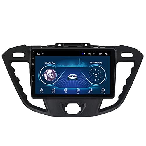Android 10.0 8 Core Car Stereo Radio de navegación por satélite FM Am Autoradio 2.5D Pantalla táctil para Ford Transit 2013-2018 Navegador GPS Bluetooth WiFi GPS USB SD Player(Color:4G+WiFi 2G+32G)