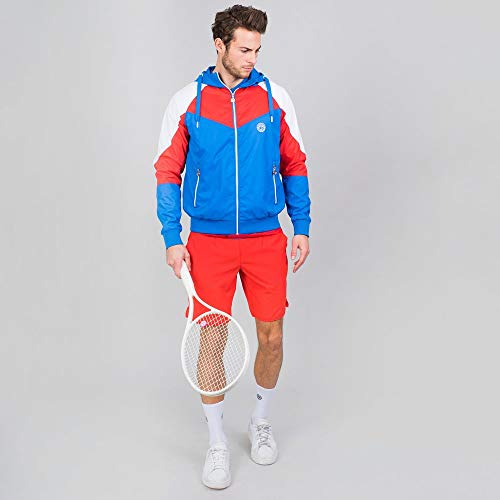BIDI BADU Herren Sportjacke Atmungsaktiv Wasserfest Windschutz Tennis Training Blau/Rot - Keto Tech Windbreaker - Blue/red, Grˆfle:M