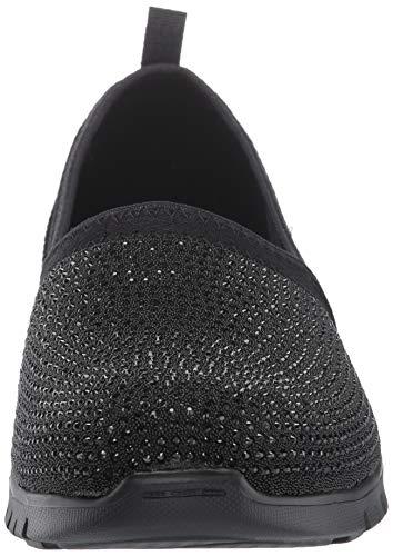 Skechers Ez Flex Renew-Shimmer Show, Zapatillas sin Cordones Mujer, Negro (BBK Mauve Lycra/Rhinestones/Off White Trim), 36 EU