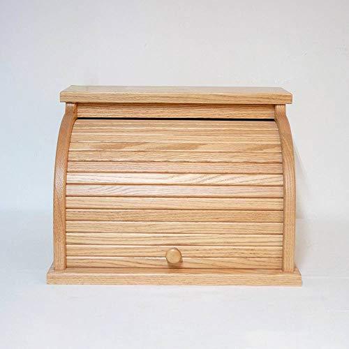 Oak Roll-Top Bread Box