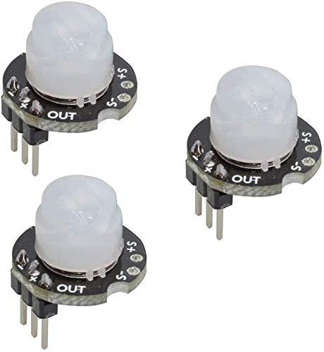 ZHITING 3 Piezas Mini SR602 módulo Detector de Sensor de Movimiento Interruptor sensorial infrarrojo piroeléctrico de Alta sensibilidad para Arduino PI