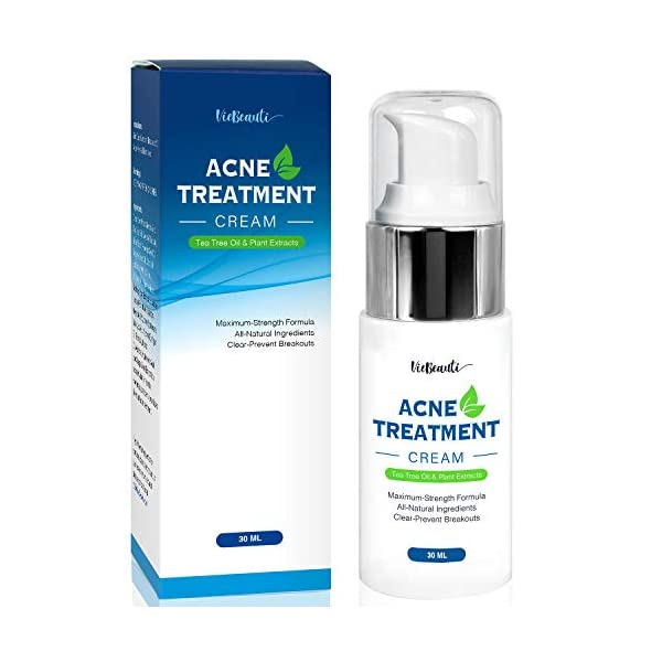 Acne treatment products VieBeauti Acne Treatment Cream with Tea Tree Oil – Acne Spot Treatment- Acne